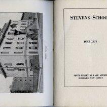 Image of frontis photo: Stevens School (school building) + pg [1] title