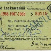 Image of Pass: Erie Lackawanna Railway Company