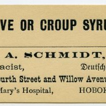 Image of 2: Hive or Croup Syrup; A. Schmidt, Pharmacist, Deutsche Apothete