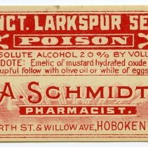 Image of 7: Tincture Larkspur Seed; A. Schmidt, Pharmacist