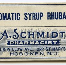 Image of 8: Aromatic Syrup Rhuharb; A. Schmidt, Pharmacist