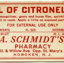 Image of 9: Oil of Citronella; A. Schmidt, Pharmacist