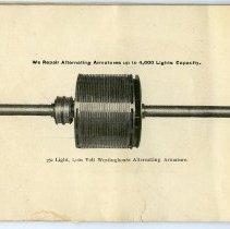 Image of pg [18] photo: 750 Light, 1,000 Volt Westinghouse Alternating Armature.