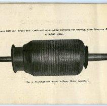 Image of pg [22] photo: No. 3, Westinghouse Street Railway Motor Armature.