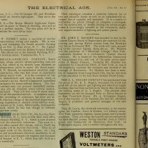 Image of Notice re Chesley offices moving; Electrical Age, Sept. 13, 1897