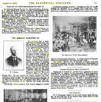 Image of Chesley article in The Electrical Engineer, Vol. 20, Aug. 14, 1895, pg. 171