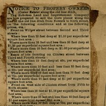 Image of detail newsclipping: Notice to Property Owners