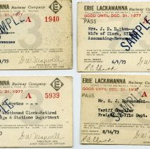 Image of front of four passes issued in 1973
