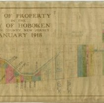 Image of Map of Property In the City of Hoboken, Hudson County, New Jersey, Jan. 1918. - Map