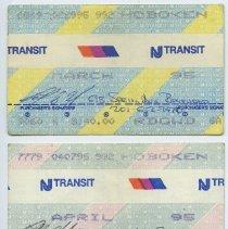 Image of tickets, 4, NJ Transit monthly commutation 1995