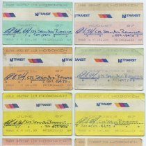 Image of tickets, 8, NJ Transit monthly commutation 1987