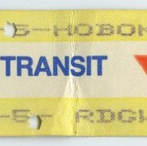 Image of ticket, NJ Transit 10-trip commutation, purchased July 1, 1988