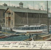 Image of Postcard: Atlantic Boat Club House, Hoboken, N.J. Postmarked August 31, 1913.  - Postcard