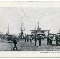 Image of Postcard: Hoboken Ferry After the Fire Aug. 7, 1905. Postmarked Philadelphia, March 20, 1906. - Postcard
