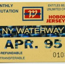 Image of 2: ticket, NY Waterway, Monthly Commutation, April 1995