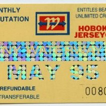 Image of 3: ticket, NY Waterway, Monthly Commutation, May 1995