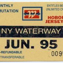 Image of 4: ticket, NY Waterway, Monthly Commutation, June 1995
