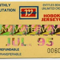 Image of 5: ticket, NY Waterway, Monthly Commutation, July 1995