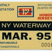 Image of 1: ticket, NY Waterway, Monthly Commutation, March 1995