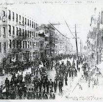 Image of 3: photocopy of photo: Holy Name Parade, Jersey City, Ninth St., 1911