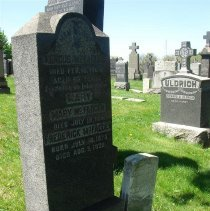 Image of Gravestone: McFadden, Holy Name Cemetery; note small U.S. Navy stone right