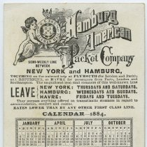 Image of back with 1884 calendar