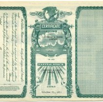 Image of Certificate Number 1, back