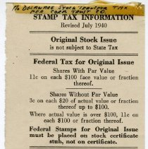 Image of enclosure 2: Stamp Tax Information