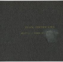 Image of cover of bound stock certificate volume