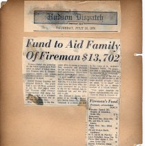 Image of leaf 6-2 Fund to Aid Family of Fireman $13,702, July 16, 1970
