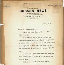 Image of leaf 14TLS Hudson News, June 5, 1942, Georg Biehl to F. Fitzpatrick
