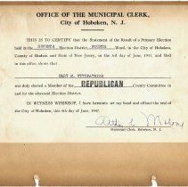 Image of leaf 15-2 certification of election, to Mary Fitzpatrick, 1947