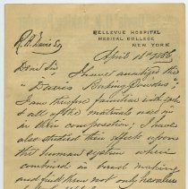 Image of back: facsimile of autograph testimonial letter 1886