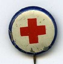 Image of Button: American Red Cross. No date, ca. 1917-1919. - Pin, Campaign