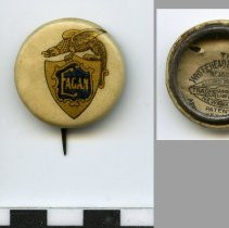 Image of Button: Eagan [School of Business]. (Hoboken), n.d., ca. 1903-1913. - Button, Promotional