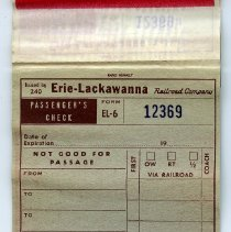 Image of ninth opening, inside back cover: passenger's check