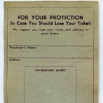 Image of first opening: form for passenger registration; validation