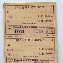 Image of second opening: transfer coupon (2); agent's stub