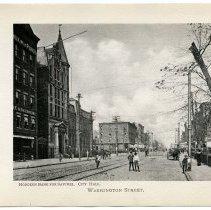 Image of [9] Washington Street; Hoboken Bank for Savings; City Hall