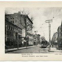Image of [11] Hudson Street, from Ferry Street; Hudson Trust Co.; Lyric Theater