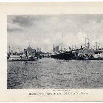 "Image of [2]: The ""Deutschland"" Hamburg-American Line (H.A.P.A.G.) Docks"