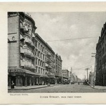 Image of [3] River Street, from Ferry Street [Hudson Place]; Delaware Hotel