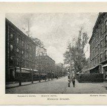 Image of [7] Hudson Street; Naegele's[Naegeli's] Hotel; Busch's Hotel; Meyer's Hotel