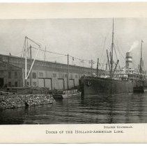 Image of [8] Docks of the Holland-American Line; Steamer Statendam