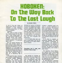 Image of pg 21: Hoboken: On the Way Back to the Last Laugh; Elena Testa