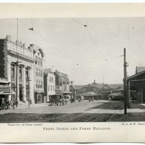 Image of [14] Ferry Street & Ferry Building; Trust Co. of New Jersey; D.L.& W. Depot