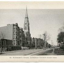 Image of [18] St. Matthaeu's [sic- Matthew's] Evangelical Lutheran Church - Hudson S