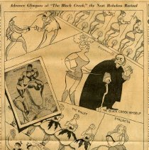 "Image of Published illustration: Advance Glimpses of ""The Black Crook,"" the Next Hoboken Revival. Art by Al Hirschfeld. Newspaper: NY Herald Tribune, March 3, 1929. - Clipping, Newspaper"