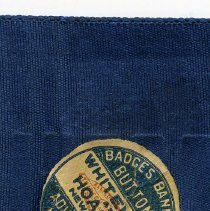 Image of detail printed label on reverse of maker