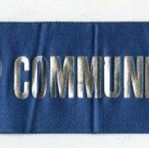 Image of Commemorative ribbon sash: War Camp Community Service. (Hoboken, no date, circa 1918-1919). - Ribbon, Commemorative